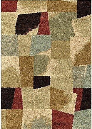 Orian Rugs Wild Weave Rampart Bisque Area Rug, 53 x 76, Red