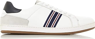 Dune London Dune Mens Tommy Stripe Trainers Size UK 8 White Flat Heel Trainers