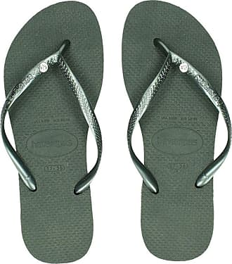 afb6f92b39e2a9 Havaianas Slim Crystal Glamour slippers groen