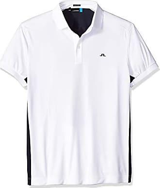 J.Lindeberg Mens Two Tone Jersey Polo Shirt, White, Medium