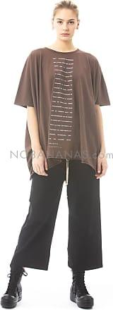 Rick Owens by Rick Owens, oversized T-Shirt mit Text-Print bark/powder blue