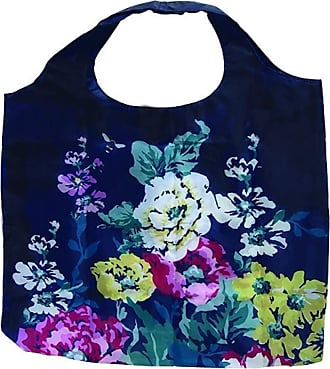 Joules Fold-Up Reusable Floral Shopping Bag with Zip Pouch JLS1910