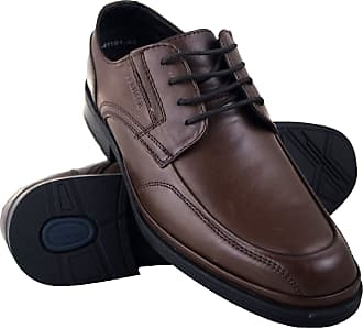 Zerimar Mens Leather Shoes | Casual Mens Shoes | Elegant Shoes for Men | Leather Shoes for Men Colour: Brown Size 10.5 UK - 43 EU