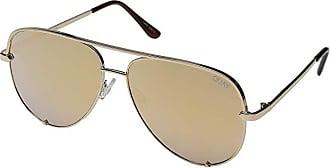 Quay Eyeware High Key QUAY X DESI (Gold/Gold) Fashion Sunglasses