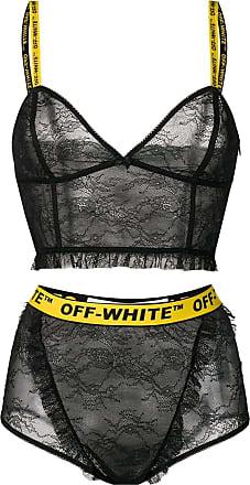 Off-white two-piece bodysuit - Black