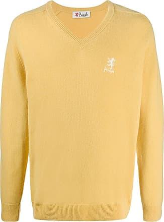 Pringle Of Scotland Suéter mangas longas com decote em V - Amarelo