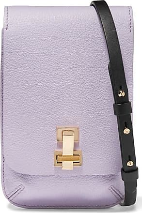 The Volon E.z Mini Textured-leather Shoulder Bag - Lilac