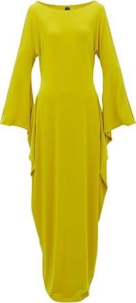 Norma Kamali Cutout-sleeve Maxi Dress - Womens - Yellow