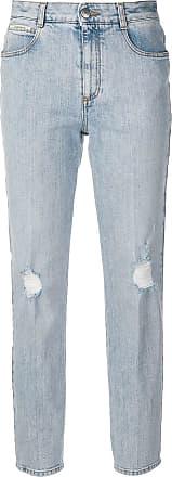 b15819a0f Stella McCartney Calça jeans slim fit com efeito desbotado - Azul