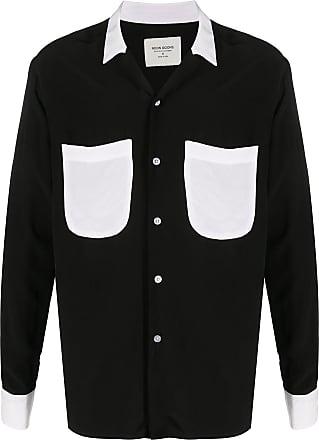 Noon Goons Camisa com bolsos contrastantes - Preto