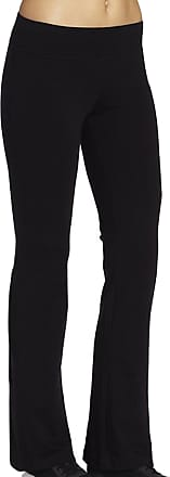 iLoveSIA Womens Bootleg Pant Casual Workout UK Size L 28.5inch Inseam Black