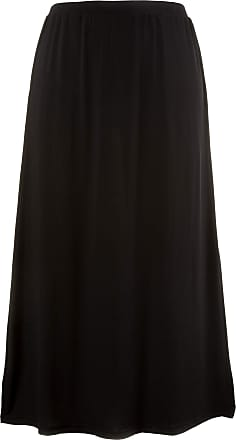 Ulla Popken Womens Plus Size A-LIne Swing Maxi Skirt Black 24/26 709789 10-50+
