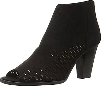 Chinese Laundry Womens Reagan Peep Toe Bootie, Black Stretch Suede, 5.5 M US
