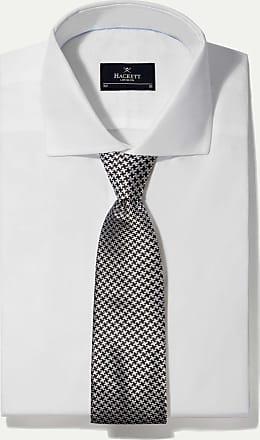 Hackett Dogtooth Check Formal Silk Tie   Black/White