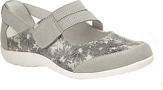 Boulevard Womens/Ladies Touch Fastening EEE Fit Bar Suede Floral Shoes (8 UK) (Grey)