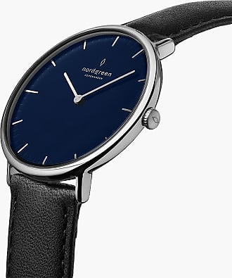 Nordgreen Native | Navy Dial - Black Leather - 32mm / Rose Gold