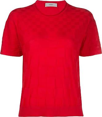 Pringle Of Scotland Camiseta xadrez de tricô - Rosa