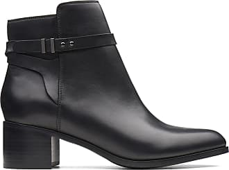 Clarks Womens Ankle Boot Black Leather Clarks Poise Freya Size 6.5