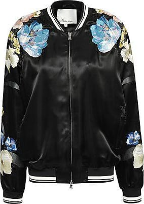 3.1 Phillip Lim 3.1 Phillip Lim Woman Embroidered Satin Bomber Jacket Black Size 0