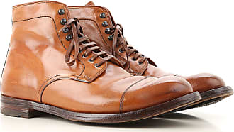 Officine Creative Boots for Men, Booties On Sale in Outlet, brown leather, Leather, 2017, 7.75