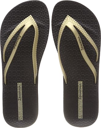 63ed3dabbd2 Ipanema Womens Bossa Soft II FEM Flip Flops, Multicolour (Black/Gold 8419)
