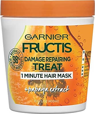 Garnier Fructis Style Damage Repairing Treat 1 Minute Hair Mask with Papaya Extract for Shine and Scalp Health, 13.5 Ounce