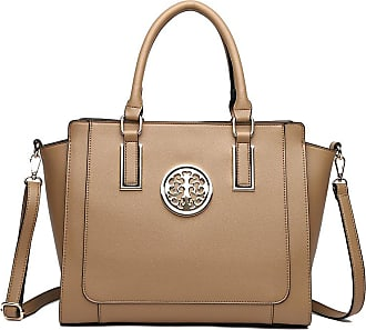 LeahWard Large Size Tote Bags For Women Nice Faux Leather Shoulder Bag Handbags For School Office Holiday 00349 (NUDE)