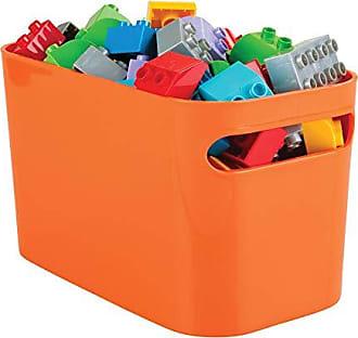 InterDesign Una Bathroom Vanity Organizer Bin for Health and Beauty Products/Supplies, Lotion, Perfume - 10 x 6 x 6, Orange