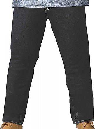 D555 Mens Big Size Tapered Fit Stretch Jeans In Indigo Cedric