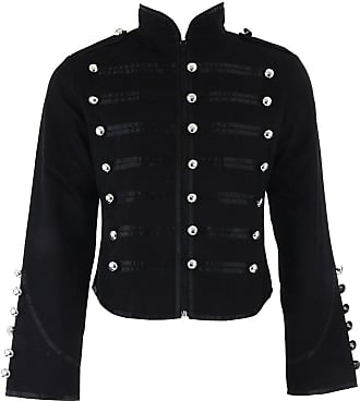Banned Clothing Black Parade Steampunk Gothic Emo Military Drummer Band Jacket