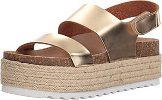 bed23d83faa0 Dirty Laundry by Chinese Laundry Womens Peyton Espadrille Wedge Sandal Gold  Mirror 6 M US