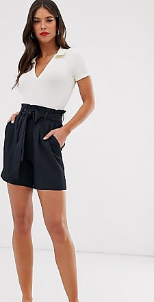 Y.A.S. Tall Cassandra bucket waist shorts-Navy