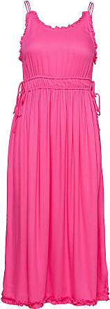 rosa knälång klänning