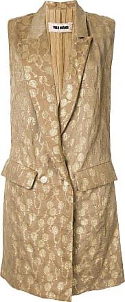 Uma Wang embroidered sleeveless coat - Brown