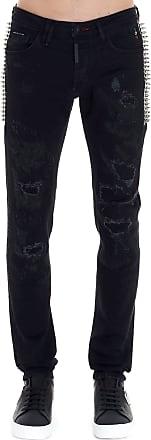 Philipp Plein Fashion Man MDT2055PDE004N02TE Black Cotton Jeans | Spring Summer 20