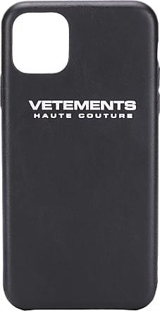 VETEMENTS Capa para iPhone 11 Pro Max com logo - Preto