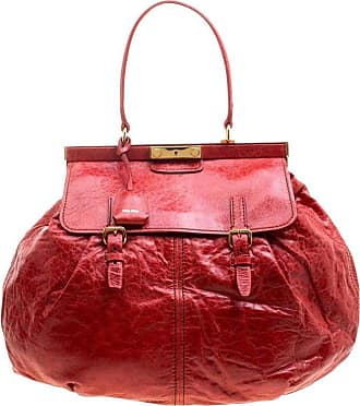 Miu Miu Miu Miu Red Vitello Lux Leather Frame Top Handle Bag 896524debfc2e