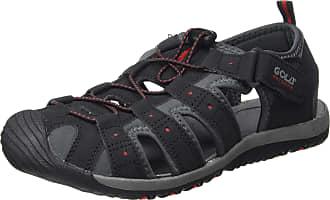 Gola Mens AMP648 Hiking Sandals, Black (Black/Grey/RED BR), 15 UK 49 EU