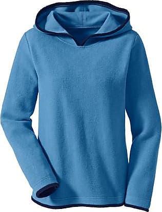 Enna Fleecepullover mit Kapuze aus Bio Baumwolle, jeansblau/nachtblau