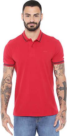 ab74516e0953d Colcci Camisa Polo Colcci Reta Listras Vermelha