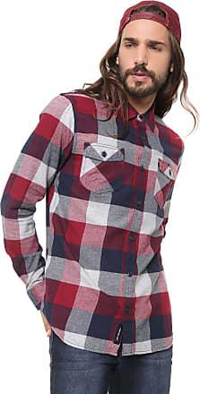 Vans Camisa Vans Reta Mn Box Flannel Vermelha/Azul
