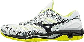 4649eaa56881 Mizuno Mens Wave Stealth V Low-Top Sneakers, Multicolour (WHT/Blk/