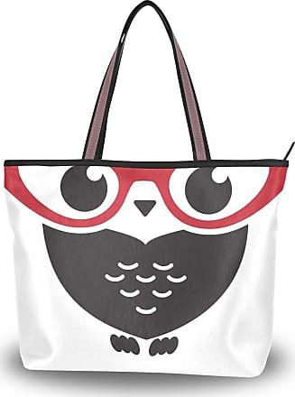 Lorona Women Owl Logo Canvas Shoulder Hand Bag Large Capacity Tote Bag