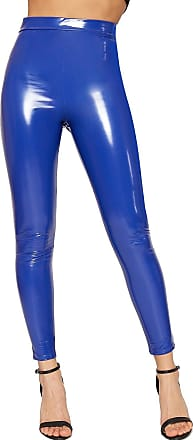 Ankle Length Wet Look Shiny Leggings Pants NAVY Size 6 8 10 12 14 16 18 20 24