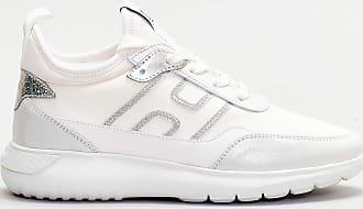 Hogan sneaker scamosciata dettagli argento - bianco