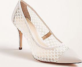 ANN TAYLOR Mila Mesh Mini Buckle Pumps