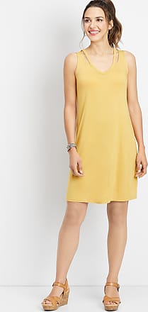 Maurices 24/7 Solid Strap V-Neck Dress