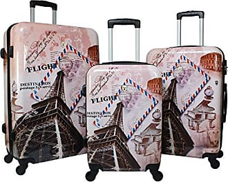 World Traveler Paris Collection 3-Piece Hardside Spinner Luggage Set