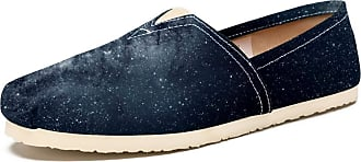 Tizorax Astrology Starry Sky Mens Slip on Loafers Casual Canvas Shoe Flat Boat Shoes