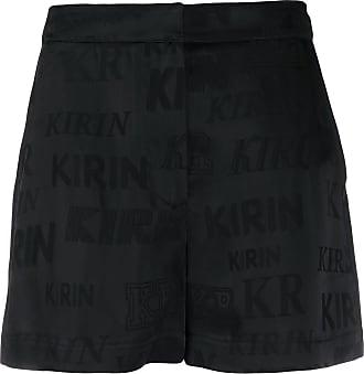 Kirin logo jacquard shorts - Black